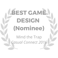 award-wreath_mind-the-trap_best-game-design_gray